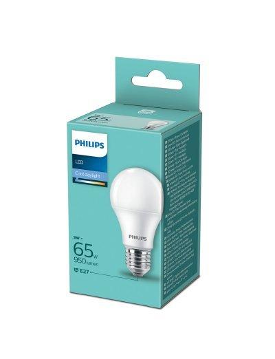 Philips LED лампа 9-65W А60 E27 студена светлина 871869963060700