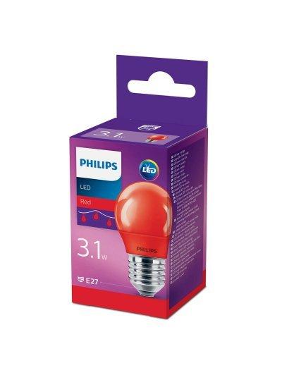 Philips LED лампа P45 E27 Червена 871869674858900