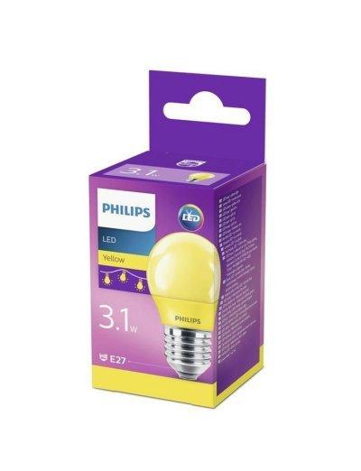 Philips LED лампа P45 E27 Жълта 871869674860200