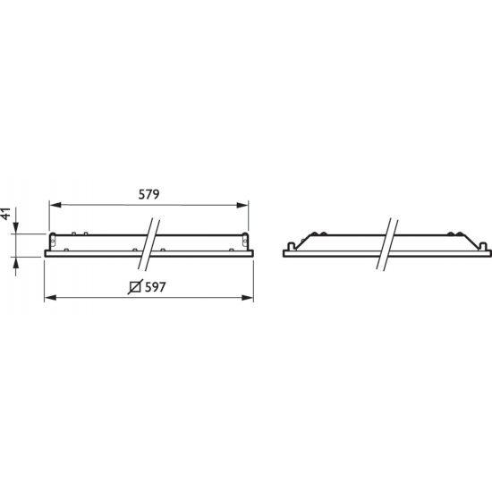 Philips Ledinaire LED панел за вграждане 871869606959200 - LED панели