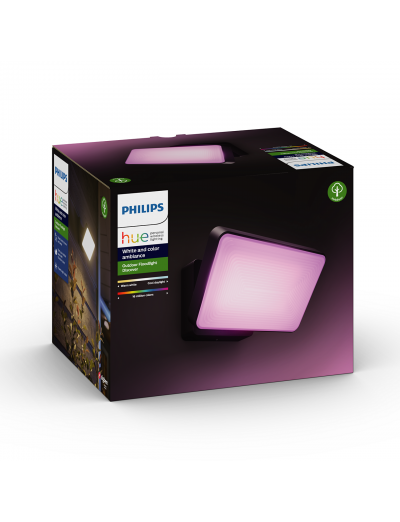 Philips, Прожектор, WiFi, LED, 2300Lm, 15 W, Hue Discover, IP44, Черен, 1743530P7