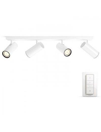 Philips HUE Спот Butatto с лампа 4хGU10 WA и димер ключ 50464.31.P7