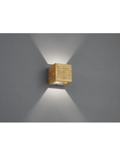 Trio Аплик Brad 1х4.3W Интегриран LED 430Lm Дървесен 223710130