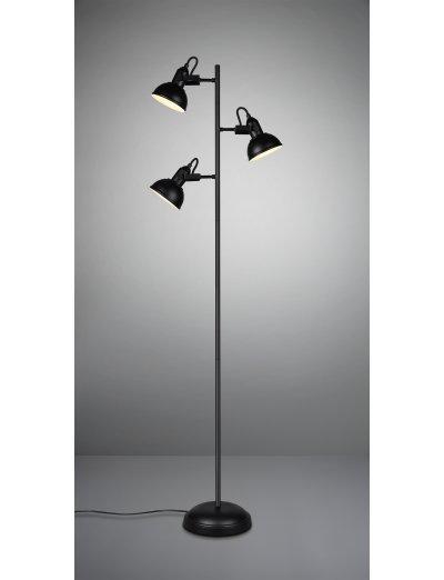 Trio, Стояща лампа, 3x28W, E14, Gina, IP20, Черен мат, R41153032