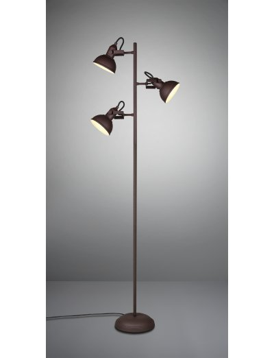 Trio, Стояща лампа, 3x40W, E14, Gina, IP20, Ръждиво, R41153024