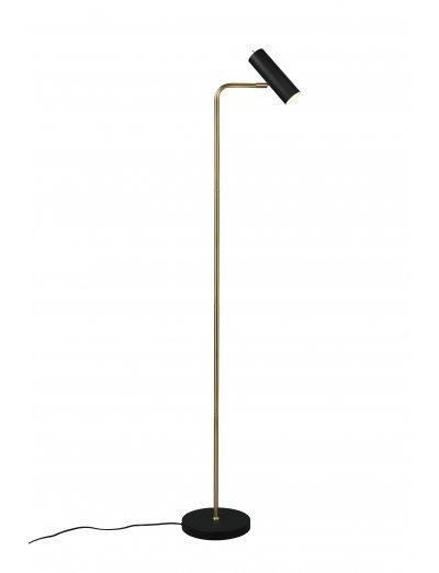 Trio Стояща лампа 5W, 1xGU10, Marley, месинг мат 412400108